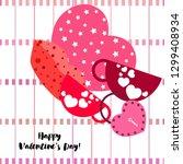 valentine's day  mug  lock ... | Shutterstock .eps vector #1299408934