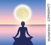 peaceful meditation on a calm... | Shutterstock .eps vector #1299409477