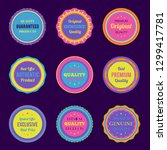 colorful badges and labels set | Shutterstock .eps vector #1299417781