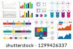 infographic elements   bar and... | Shutterstock .eps vector #1299426337