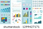 infographic elements   bar and... | Shutterstock .eps vector #1299427171