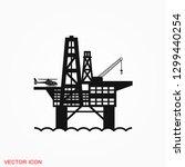oil platform iconfuel... | Shutterstock .eps vector #1299440254