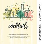 vector illustration with... | Shutterstock .eps vector #1299446944