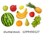 set of isolated summer and... | Shutterstock .eps vector #1299450127