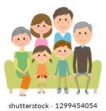 an illustration of the family... | Shutterstock .eps vector #1299454054