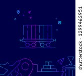 railway car  container vector...