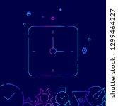 square clock vector line icon....