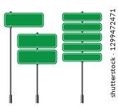 set of blank green traffic... | Shutterstock .eps vector #1299472471
