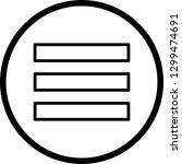 menu vector icon    Shutterstock .eps vector #1299474691