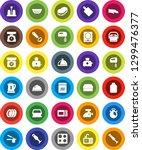white solid icon set  sponge... | Shutterstock .eps vector #1299476377