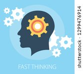 vector illustration of thinking ... | Shutterstock .eps vector #1299476914