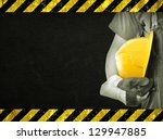 worker and dark texture in... | Shutterstock . vector #129947885