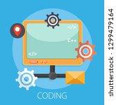 software  web development ... | Shutterstock .eps vector #1299479164