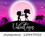 happy valentine's day ... | Shutterstock .eps vector #1299479554