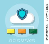 hosting cloud icon  cloud... | Shutterstock .eps vector #1299481831