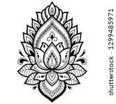mehndi lotus flower pattern for ...   Shutterstock .eps vector #1299485971