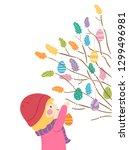 illustration of a kid girl...   Shutterstock .eps vector #1299496981