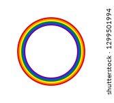 circle shape lgbt rainbow pride ... | Shutterstock .eps vector #1299501994