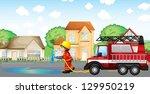 Illustration Of A Fireman...