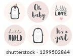 baby shower candy bar vector... | Shutterstock .eps vector #1299502864