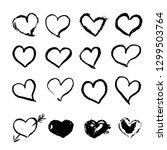 set of 16 hand drawn black...   Shutterstock . vector #1299503764