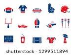 american football   iconset ... | Shutterstock .eps vector #1299511894