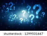 2d illustration question mark | Shutterstock . vector #1299531667