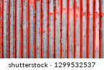 rusty corrugated sheet with... | Shutterstock . vector #1299532537