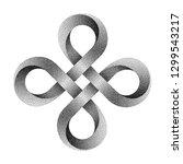 stippled bowen cross symbol.... | Shutterstock .eps vector #1299543217