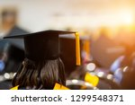 rear view of the university... | Shutterstock . vector #1299548371