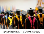 rear view of the university... | Shutterstock . vector #1299548407