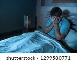 young sad and depressed... | Shutterstock . vector #1299580771