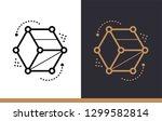 unique linear icon of 3d... | Shutterstock .eps vector #1299582814