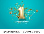 first anniversary celebration.... | Shutterstock .eps vector #1299584497