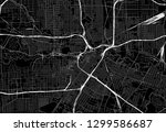 black map of downtown houston ... | Shutterstock .eps vector #1299586687