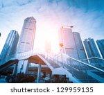 escalator in the outdoor under... | Shutterstock . vector #129959135