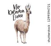 Watercolor No Drama Llama Card...