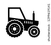 tractor glyph black icon | Shutterstock .eps vector #1299619141