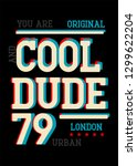 london cool dude t shirt design   Shutterstock .eps vector #1299622204