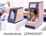 Small photo of high technology and modern automatic optiflash device of lab for detects flash point analysis application for petroleum oil food & beverages chemical & fluxed bitumen etc.