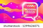 modern design poster with 3d... | Shutterstock .eps vector #1299626071