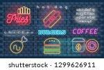 modern urban design of neon... | Shutterstock .eps vector #1299626911