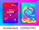 modern poster templates set... | Shutterstock .eps vector #1299627451