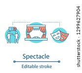 spectacle concept icon. meeting ...   Shutterstock .eps vector #1299627904