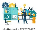 illustration  investment... | Shutterstock . vector #1299629497