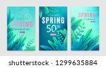 spring sale background.... | Shutterstock .eps vector #1299635884