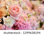 pink roses decoration bouquet | Shutterstock . vector #1299638194