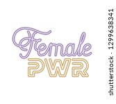 female power label isolated icon | Shutterstock .eps vector #1299638341