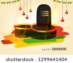 happy maha shivratri  vector... | Shutterstock .eps vector #1299641404