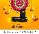 happy maha shivratri  vector... | Shutterstock .eps vector #1299641407